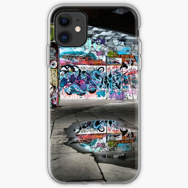 London Southbank Skate Graffiti iPhone Soft Case