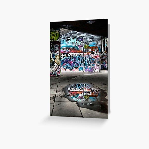 London Southbank Skate Graffiti Greeting Card