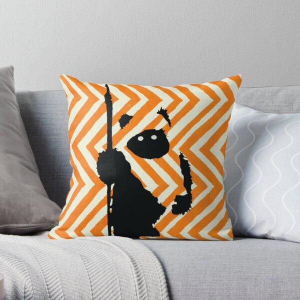 Ewok Chevron Orange Throw Pillow