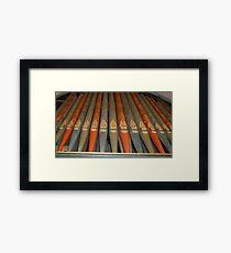 Pretty Pipes Framed Print