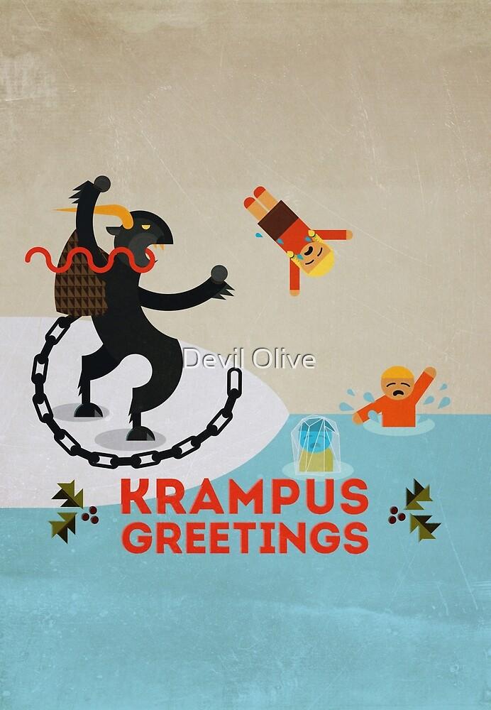 Krampus Greetings III by Devil Olive