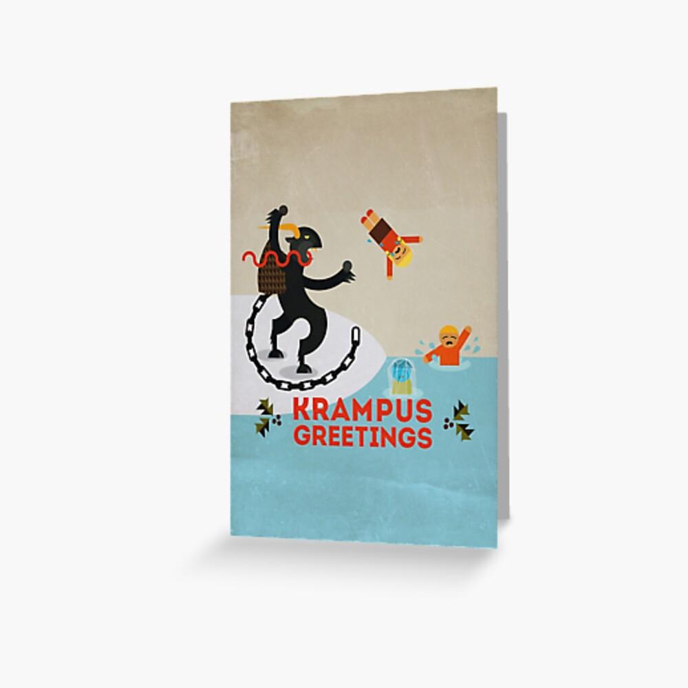 Krampus Greetings III Greeting Card