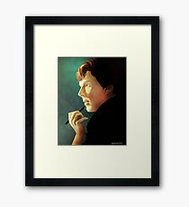 A study in painting Framed Print