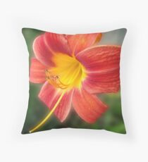 Curled Petals Throw Pillow