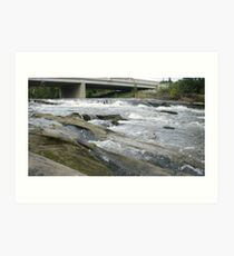 Hocking River Riffles Art Print