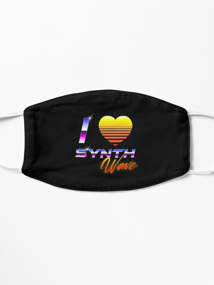 Alternate view of I Love Synthwave Mask