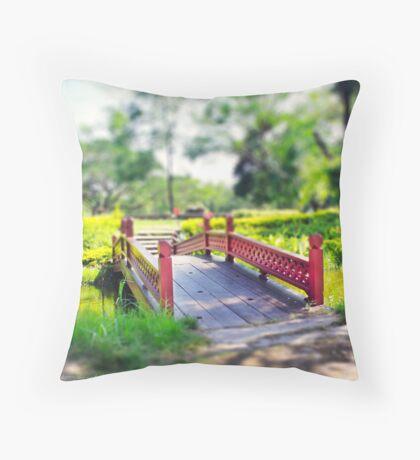 Happy Little Bridge Throw Pillow