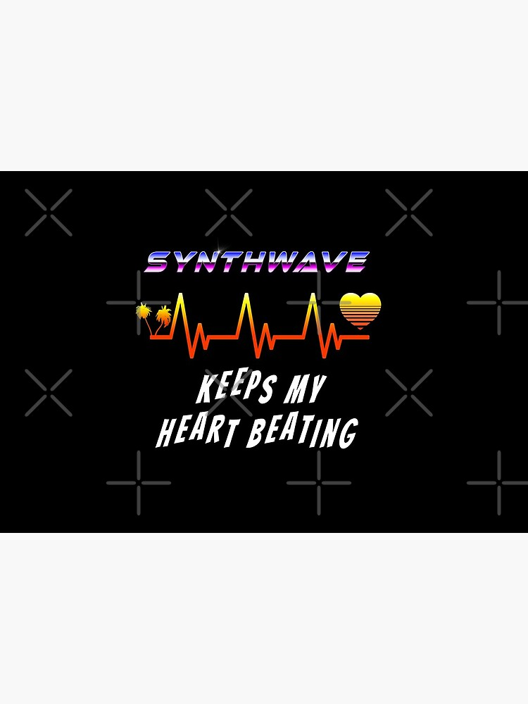 Synthwave keeps my heart beating by GaiaDC