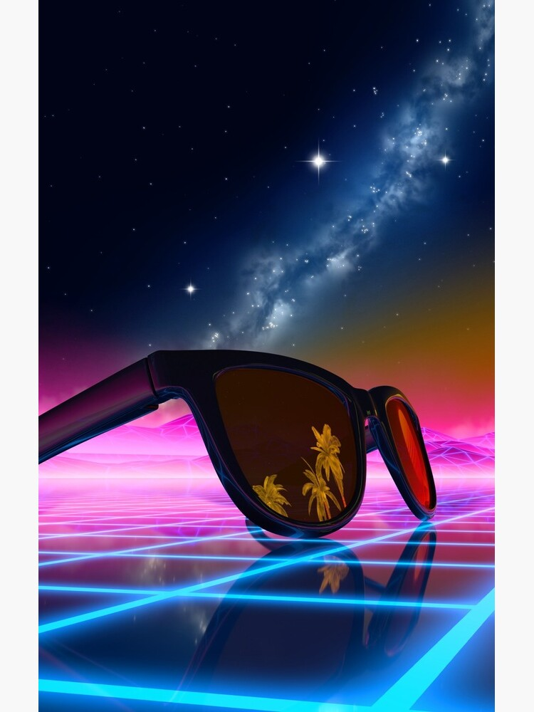 Sunglasses in a synthwave landscape by GaiaDC