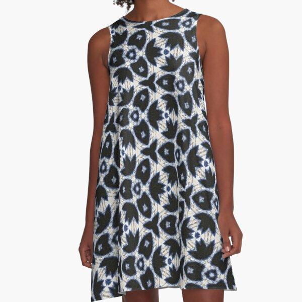 Clarissa Boho Floral Tie Dyed A-Line Dress