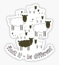 Flock It - Be Different Sticker
