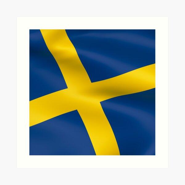 Schwedische Nationalfahne Kunstdruck
