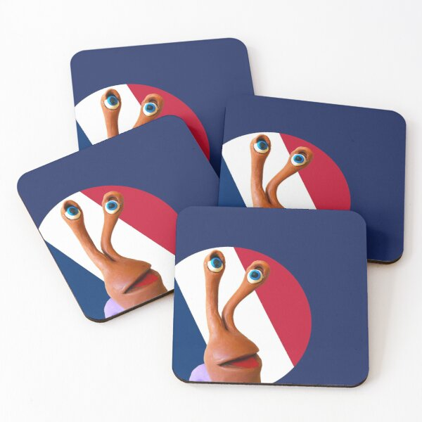 @EscargotAuvin goes patriotic with French flag 2 Coasters (Set of 4)