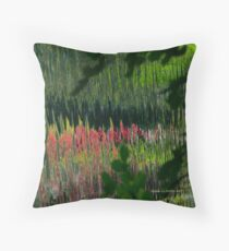 Study in Pink and Green Throw Pillow