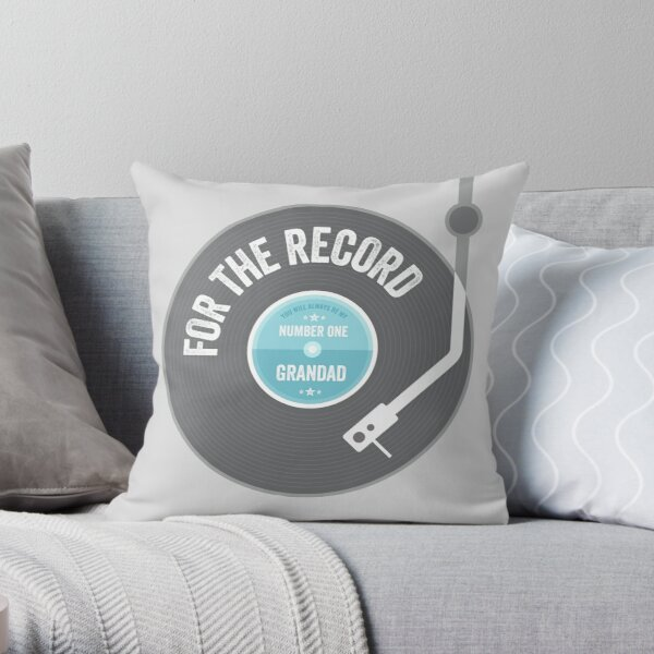 Father's Day Gift - For the Record, Number One Grandad Throw Pillow