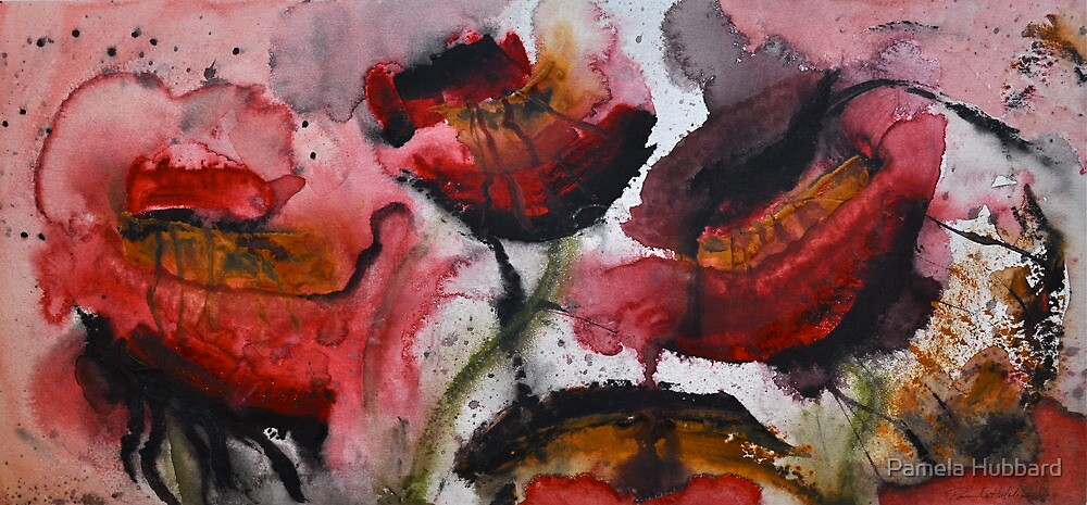 Bleeding Poppies by Pamela Hubbard