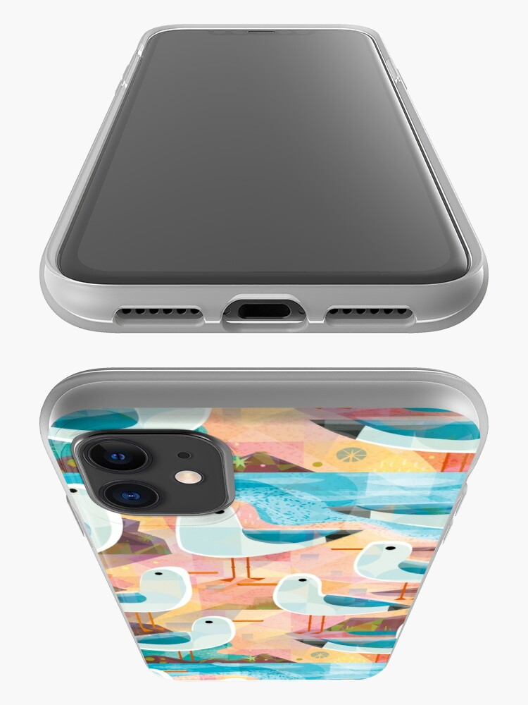 Alternate view of Seagulls on a Sunlit Shore iPhone Case & Cover