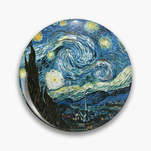 Vincent van Gogh's The Starry Night - an Icon of Modern Art Pin