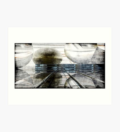 Momentum Grunged Art Print