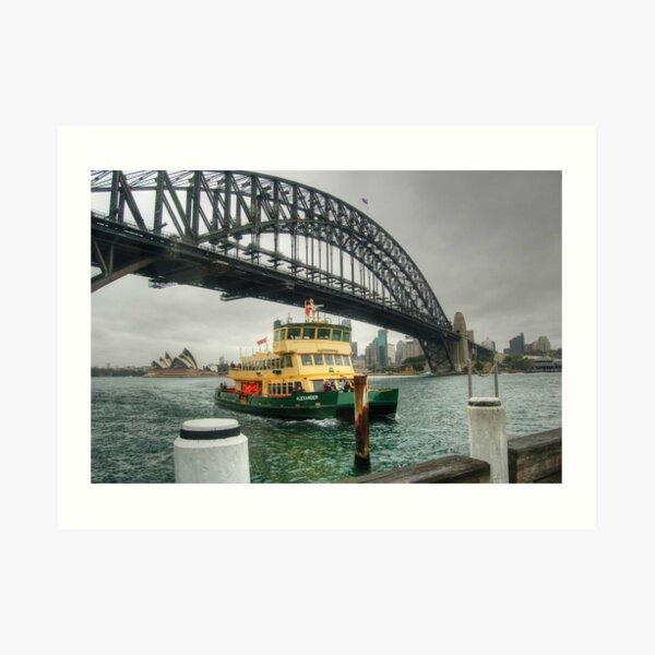 Sydney Harbour Bridge & Ferry Art Print