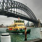 Sydney Harbour Bridge & Ferry by Eve Parry