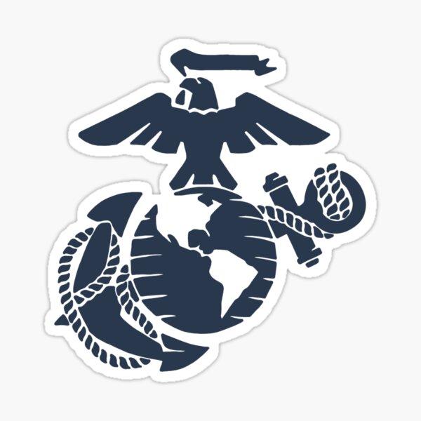 United States Marine Corps Blue EGA Sticker