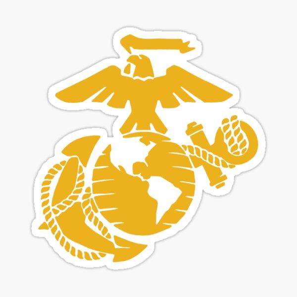 United States Marine Corps Yellow EGA Sticker