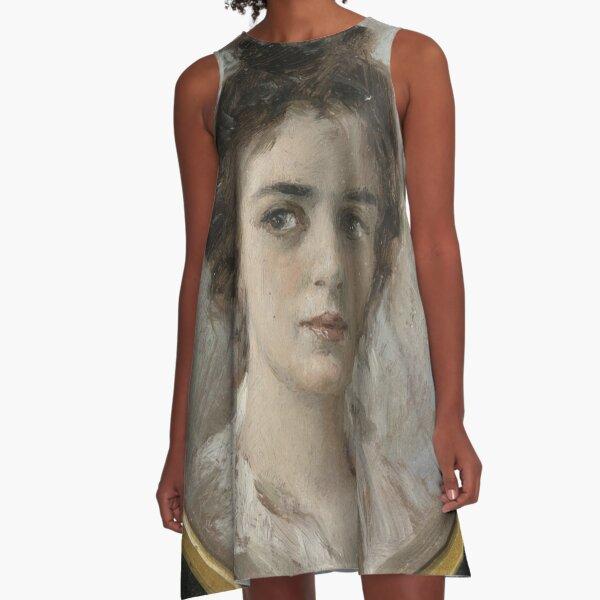 Portrait Study of a Woman, possibly Maria Yakunchikova A-Line Dress