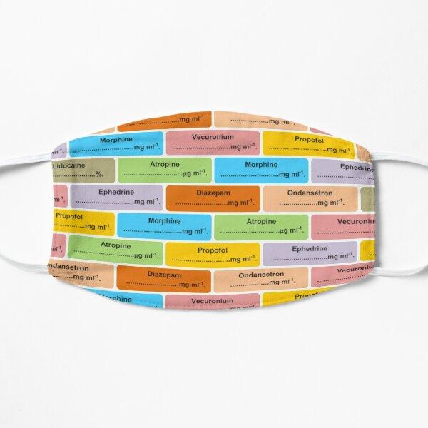Anästhesie Drug Label Pattern Anästhesie Flache Maske