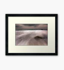 Misty Water-Rocky Bay Ireland Framed Print