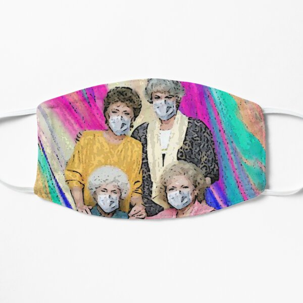 Stay Home, Stay Safe, Stay Golden Flat Mask