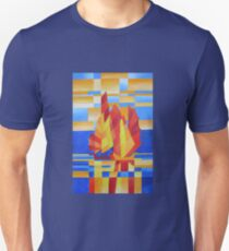 Sailing on the Seven Seas so Blue Cubist Abstract Unisex T-Shirt