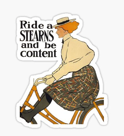 Ride A Stearns Bicycle and Be Content Sticker
