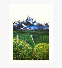 RESTFUL MOUNTAINS Art Print