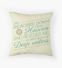 He Reached Down Throw Pillow