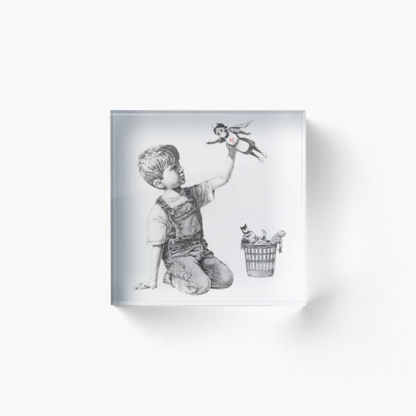 Game Changer - Banksy Acrylic Block