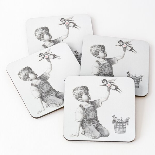 Game Changer - Banksy Coasters (Set of 4)