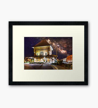 Milky Way Station Framed Print