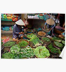 Green Market Vegetables Poster