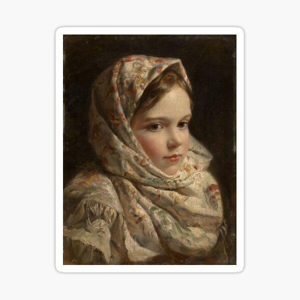 Russian Painter Oil Portrait Sticker