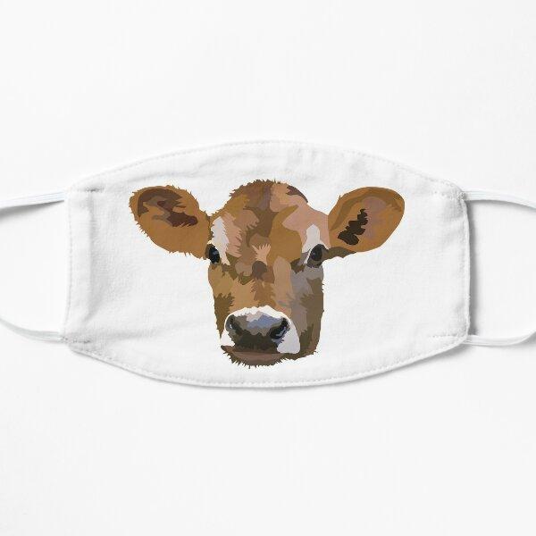 Little Jersey Cow, Cute Little Calf Flat Mask