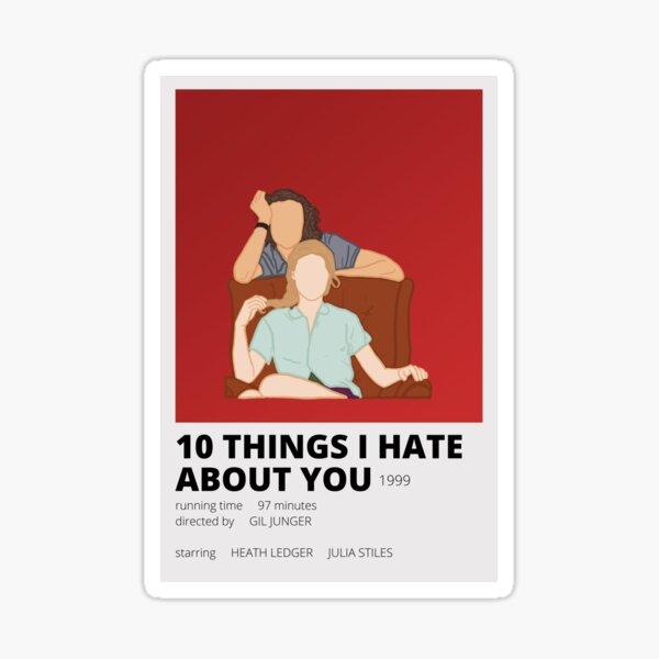 10 choses que je déteste chez vous Sticker minimaliste Sticker