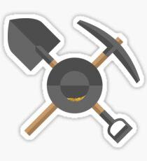 Pick, Shovel, & Pan Sticker