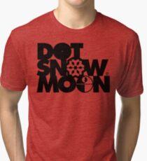 Dot Snow Moon (Black Text) Tri-blend T-Shirt