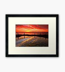 Three Seagulls and the Sunrise Framed Print