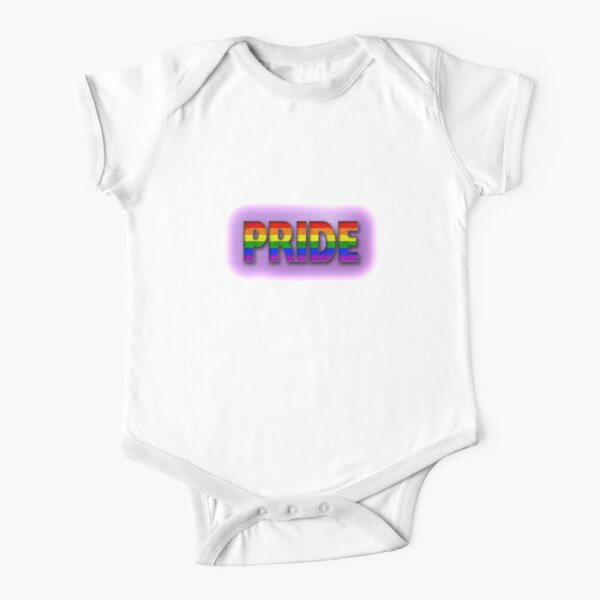 Rainbow PRIDE - Purple Short Sleeve Baby One-Piece