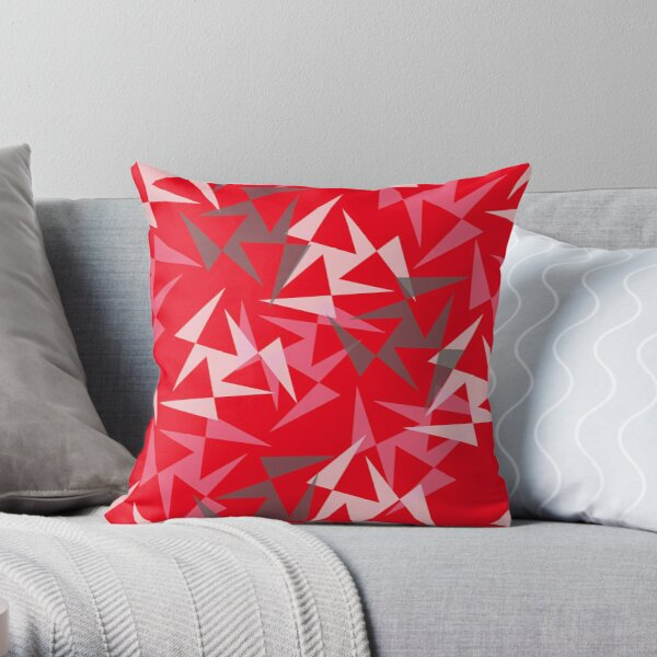 Geo Wheels - Red Throw Pillow