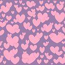 Pink Hearts by redqueenself