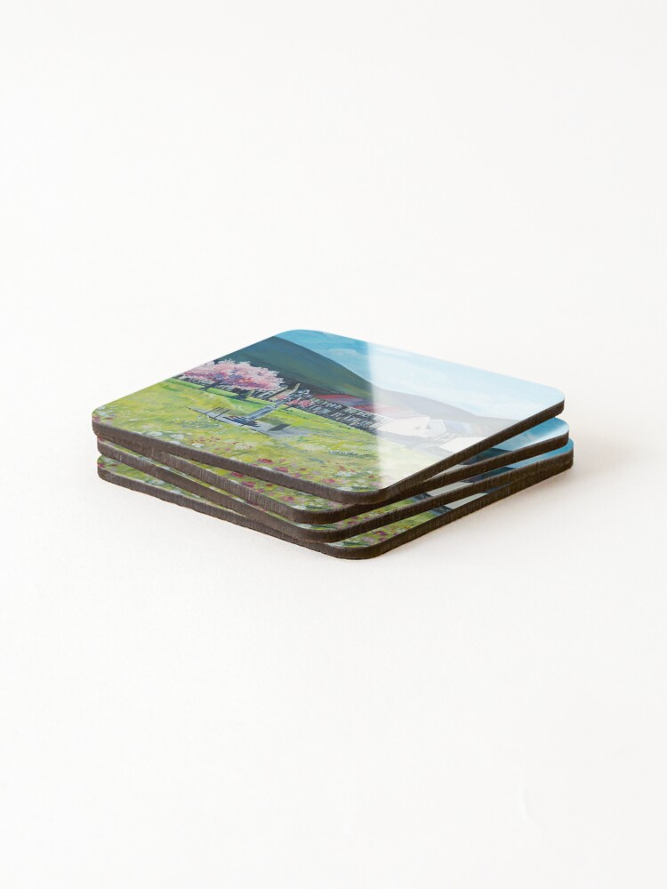 Alternate view of Acrylic Painting of The daisy park Coasters (Set of 4)