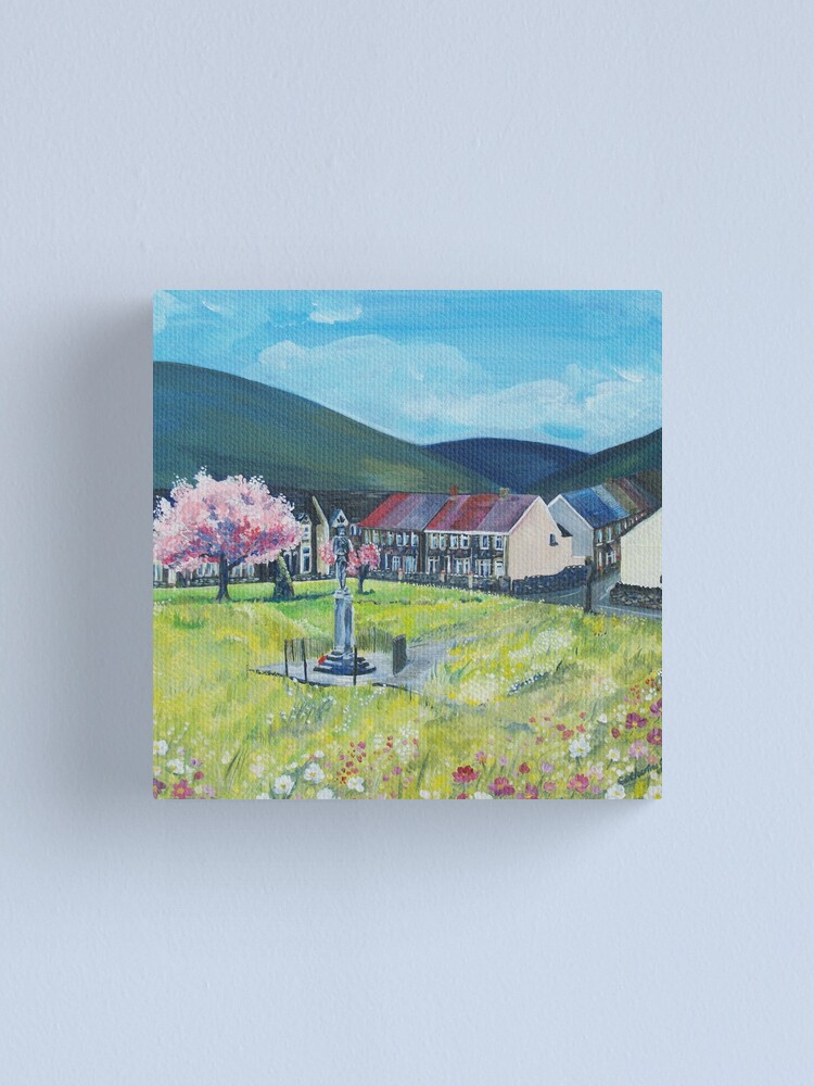 Alternate view of Acrylic Painting of The daisy park Canvas Print